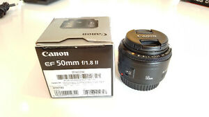 Mint Condition Canon EF 50mm f/1.8 II Camera Lens