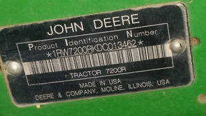 7200R JD TRACTOR ,FW ASSIST,QUICK ATTACH PACKAGE, POWERSHIFT Moose Jaw Regina Area image 8