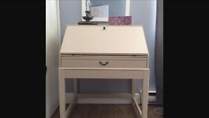 Ikea alve secretary desk with storage bench