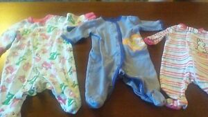 Sleepers Lot for Baby Girl Size 0-3 Months
