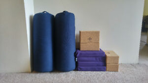 Halfmoon Yoga Blocks and Bolsters for Sale
