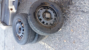 P 185/65 R 14 TIRES WITH RIMS !!!!EXCELLENT CONDIT Prince George British Columbia image 1