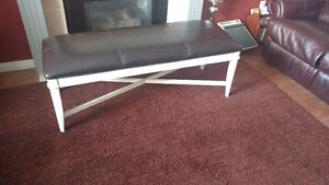 leatherette couch bench beautiful
