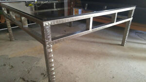Glass table/coffee table/dining table
