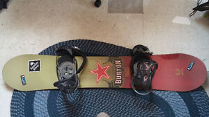 BURTON KING 158 SNOWBOARD WITH FREE MISSION BINDINGS