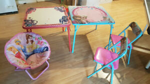Ensemble 2 tables 3 chaises enfant