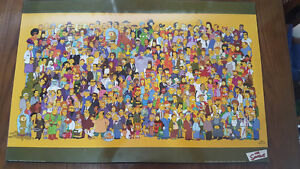 Wooden Simpsons All Cast poster