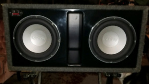 """Dual 10"""" Sledgehammer subwoofer box with 2 Infinity perfect 10.1"""