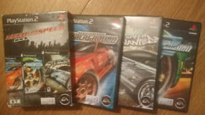 Collection need for speed l'état neuf