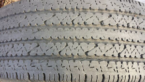 set of two truck tires not on rims