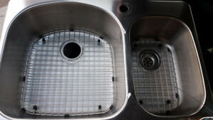 Stainless Steel Double  Sink with Grids