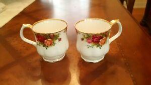Royal Albert Country Roses Coffee Mugs