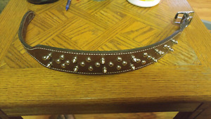Brown Leather Collar!!!