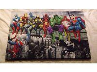 🌟MARVEL DC COMIC SUPERHEROES GIRDER LUNCH ATOP SKYSCRAPER CANVAS (A1(841X594MM))🌟