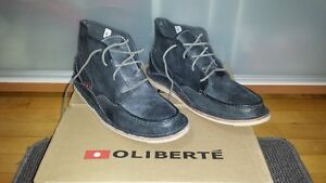 (OLIBERTE) BOOTS 100% LEATHER SZ 12 (DK GREY) NEW IN BOX-PD $190