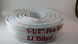 "1-1/2"" X 50' Lay-Flat White Mill Water Discharge Hose"