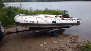 LODESTAR NS 430 inflatable boat and trailer trade for small boat