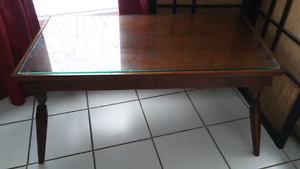 Table basse vitrée