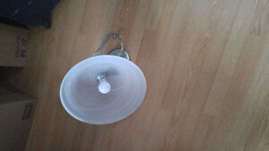 Frosted glass ceiling light $5