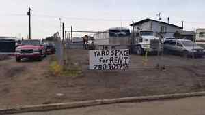 Commercial parking lot for rent fenced yard 600.00 month