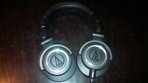 Audio Technica ATH M50X studio head phones