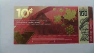 CANADIAN TIRE-150th Anniversary Limited Edition Coupon.