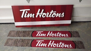 3 Tim Hortons Signs
