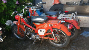 Vintage Honda 90 Trailbikes 1969 and 1971