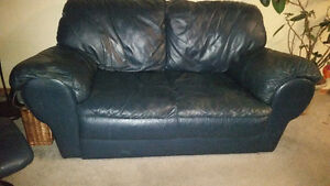 Navy Leather Loveseat Made by Palliser - Exc.Quality