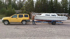 Kittiwake 22ft white and blue with trailer