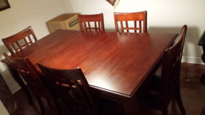 Expandable Dining Table+6 chairs
