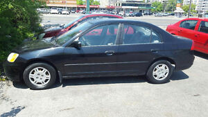 2001 Honda Civic BASE Sedan 1800.00