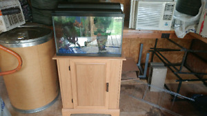 Aquarium with stand and extra accessories