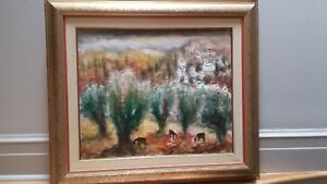 Albert Goldman original signed oil painting of Jerusalem