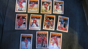 1990-91 OPC Central Red Army cards(11)