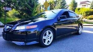 2007 Acura Tl A-Spec 83,000 Kms  Navi Black Leather Loaded**