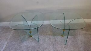 Clear Glass End/Coffee Tables