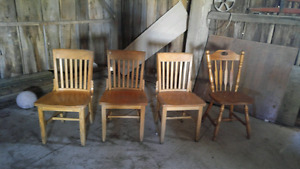 Maple wood CHAIRS
