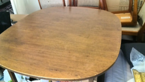 Mid century modern MCM oak oval dining table
