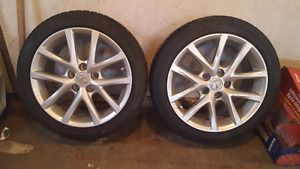 Lexus rims and studded tires