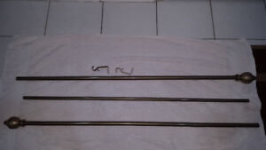 Curtain Rods & Hardware - 4 Available - $35 Each