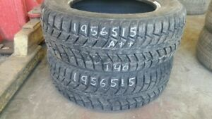 Pair of 2 Uniroyal Tiger Paw Ice 195/65R15 WINTER tires (90% tre