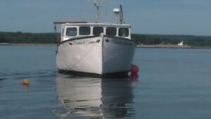 "34'11"" cape island style lobster boat built by Stanley greenwood"