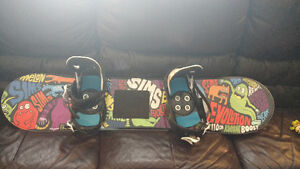 Youth board bindings and boots