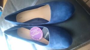 Size 11 blue suede wedge shoes