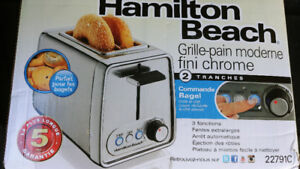 Hamilton Beach Chrome 2 Slice Toaster
