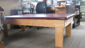 Padded exercise table --  better than the floor!