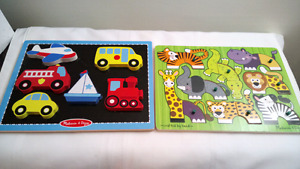 Two Melissa and Doug Wood Puzzles
