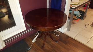 Small Solid Wood Round Dining Table