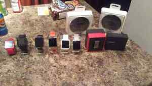 7 smart watches 3 take sim cards and 2 wireless charger stands
